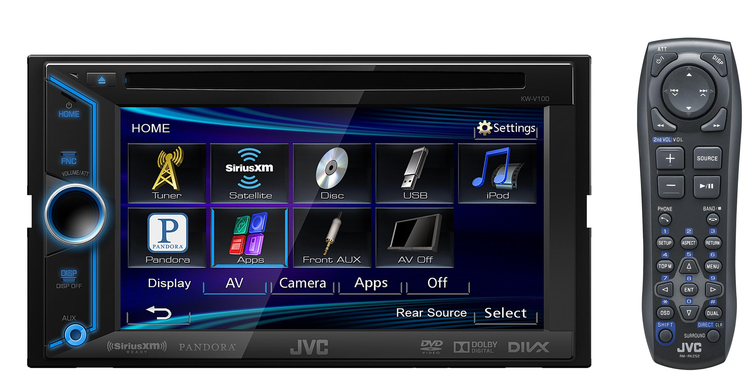 rb jvc kw v20bt 2 din bluetooth car dvd receiver 6 1. Black Bedroom Furniture Sets. Home Design Ideas